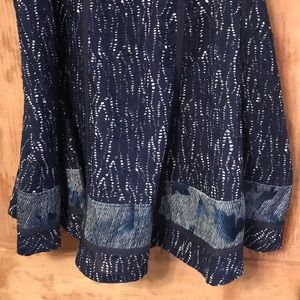 Beautiful quilted blue Coldwater Creek skirt xl